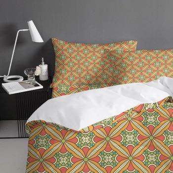 Red Comforter Set | FamilyDecor Irregular Pattern Orange Bedding Set Luxury Comforter Bedding Sets 3D King Size Red Blue Cotton DHL Free Shipping