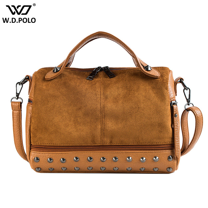 New Vintage Women Handbag Fashion High Capacity Lady Tote Chic Rivet Design Shoulder Bag For Female Crossbody Bags Q0115New Vintage Women Handbag Fashion High Capacity Lady Tote Chic Rivet Design Shoulder Bag For Female Crossbody Bags Q0115