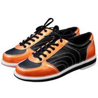 Men Women Skidproof Sole Bowling Shoes Unisex Breathable Lace Up Sports Shoes Wearable Sneakers D0764