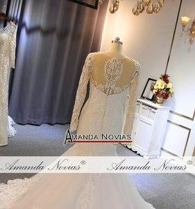 Image 3 - חתונה אלגנטית שמלה עם שרוולים ארוכים בת ים כלה שמלת כלה שמלת 2019
