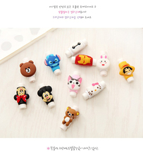 10pcs/lot Cute cartoon figure USB Data Cable Line Protector Anti Breaking Protective Sleeve For Charging Cable Earphone Line