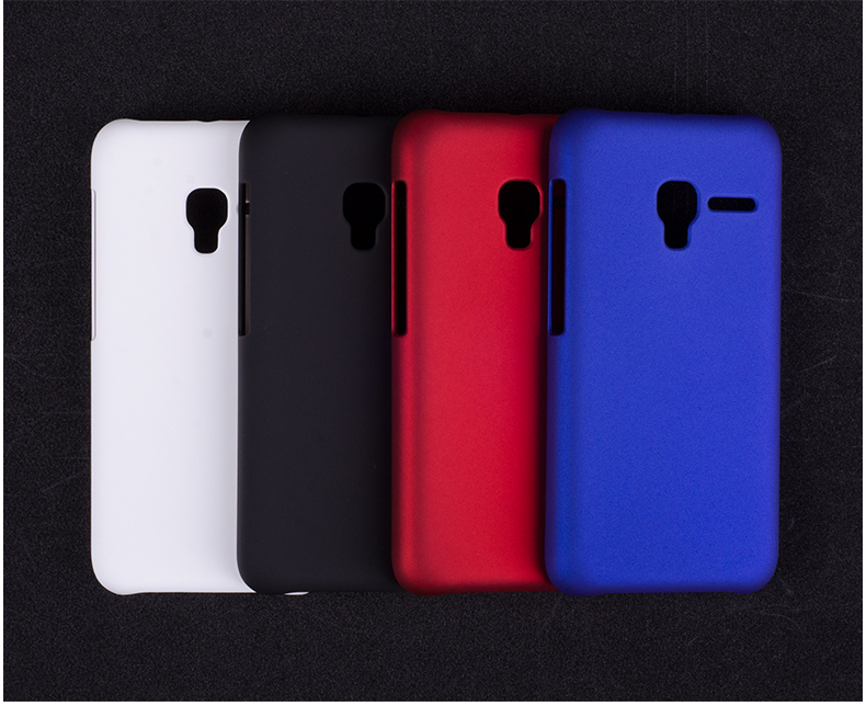Colorful Matte Rubber Hard Back Cover Case For <font><b>Alcatel</b></font> One Touch Pixi 3 4.5&#8243; 4027X 4027D 4028A 4028E Ultrathin <font><b>Phone</b></font> Shell YK02