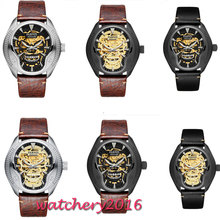 лучшая цена 2019 New Fashion 43mm parnis skeleton dial Luminous marks top brand Luxury Sapphire glass Miyota automatic Mechanical mens watch