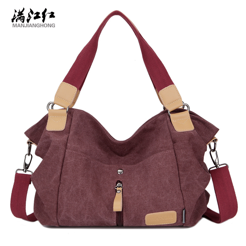 2016 Fashion Leisure Women Handbag Canvas Bag Big Capacity Woman's Shoulder Bag Strong Quality Messenger Bag 1344 2016 hot style horizontal women leisure canvas stripe handbag mix single shoulder bag handbag chain wave packet