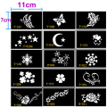 15 pcs Stencils for Tattoo Henna Tattoo Stencil for Face Painting Templates Mehendi Airbrush Glitter Temporary Body Paint Art