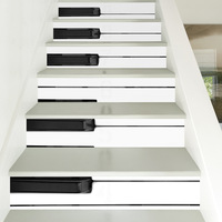 DIY black&white Piano keyboard Europe Tiles Wall Stickers for DecorationSelf Adhesive Waterproof PVC Wall Stickers FS009