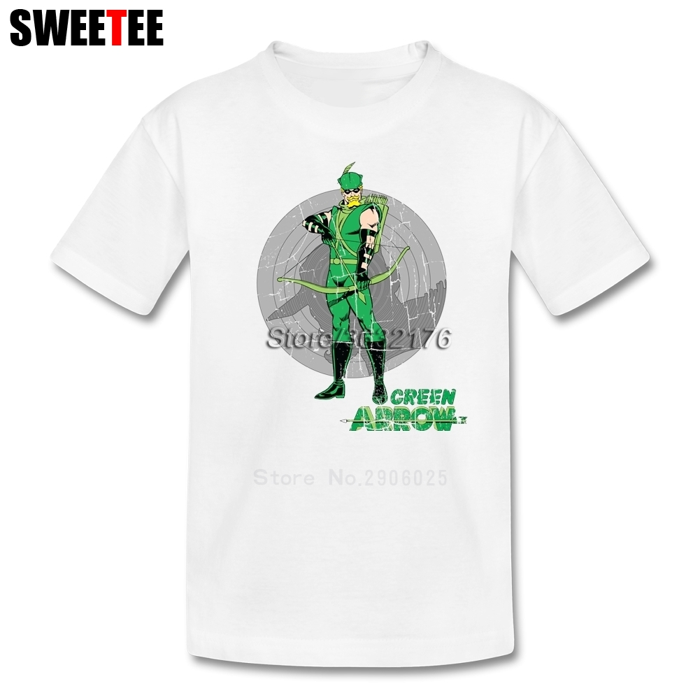 Vintage Green Arrow Children T Shirt Pure Cotton Short Sleeve O Neck Tshirt Tees Boys Girls 2018 High Quality T-shirt For Baby