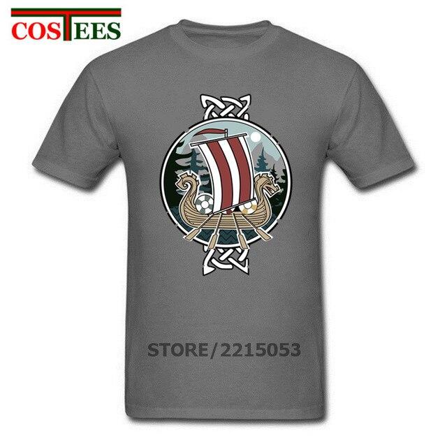 ccb135aa1 Classy Scenic nordic vikings dragon T Shirts Men 100% Cotton Short Sleeve  Real Tops Tees Viking T shirt Madrid funny t shirt man-in T-Shirts from  Men s ...