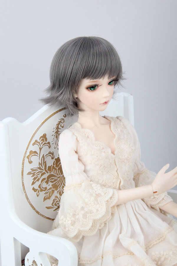 Top quality Gray Doll Wig 1/6 1/4 1/3 BJD Wig Short
