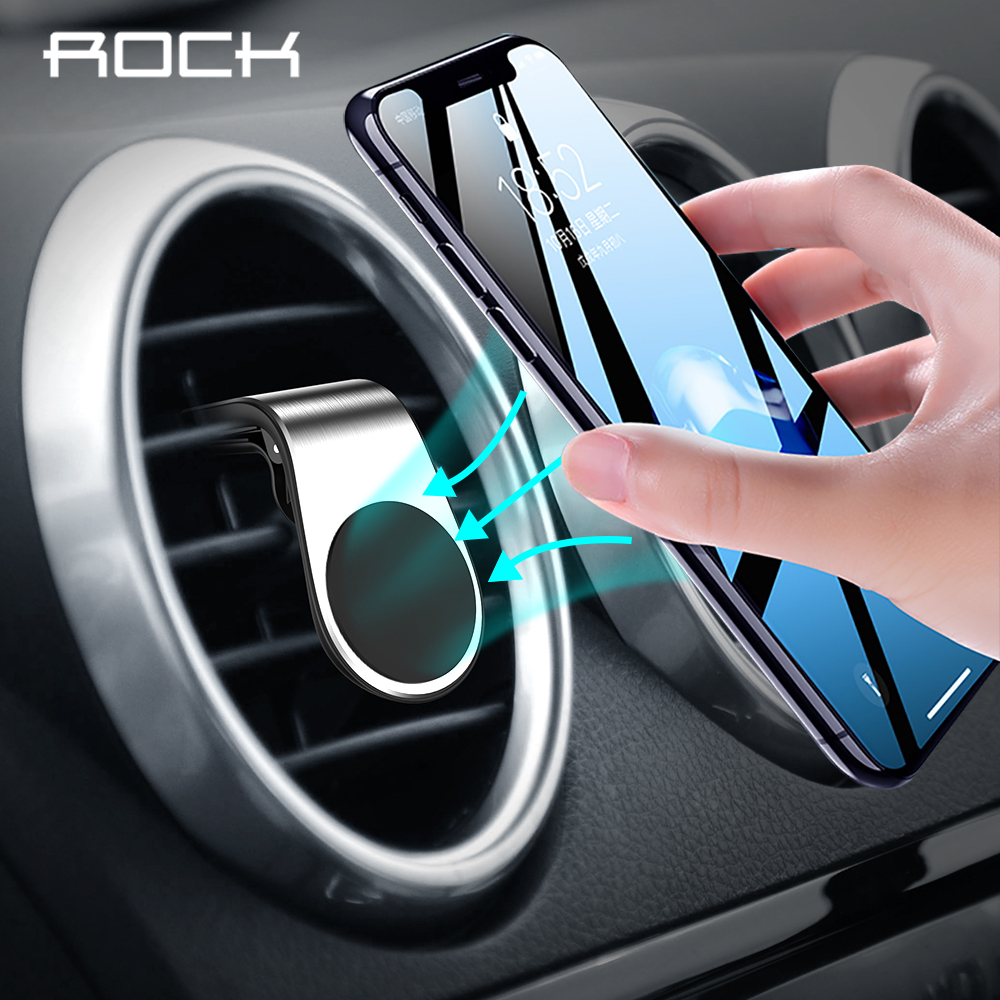 Rock Metal Magnetic Car Phone Holder for iPhone Samsung Xiaomi 360 Air Magnet in Car