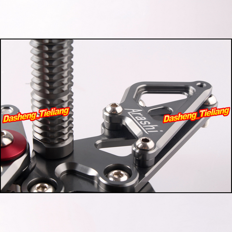 Motorcycle Adjustable Rearset Rear Set Footpegs Foot Rest Peg For Ninja 300 Z300 EX300B ABS & EX300A 2013 Spare Parts