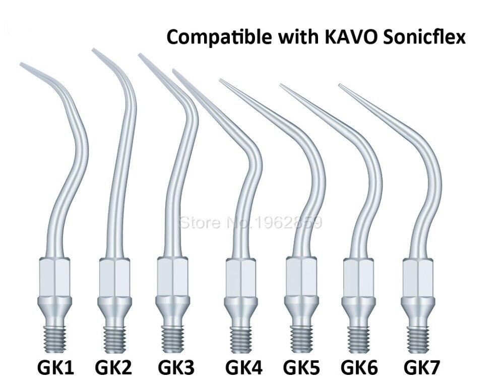 7pcs lot Dental Scaler Tips for KAVO Dentist Instrument Equipment Ultrasonic Tip Compatible KAVO GK1 GK2