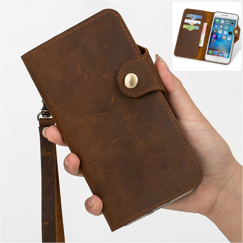 QX11 genuine leather wallet phone bag for OPPO Reno(6.4') flip cover case for OPPO Reno wallet phone case free shipping