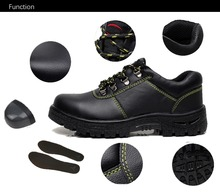 Puncture Proof Labor Insurance Shoes 2018 Fashion Black Men Safety Shoe Steel Toe Working Shoes With Steel Toe  Anti-kick