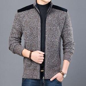 Image 5 - 2020 maglione spesso nuovo marchio di moda per Cardigan da uomo maglioni Slim Fit maglieria autunno caldo Casual stile coreano abbigliamento uomo