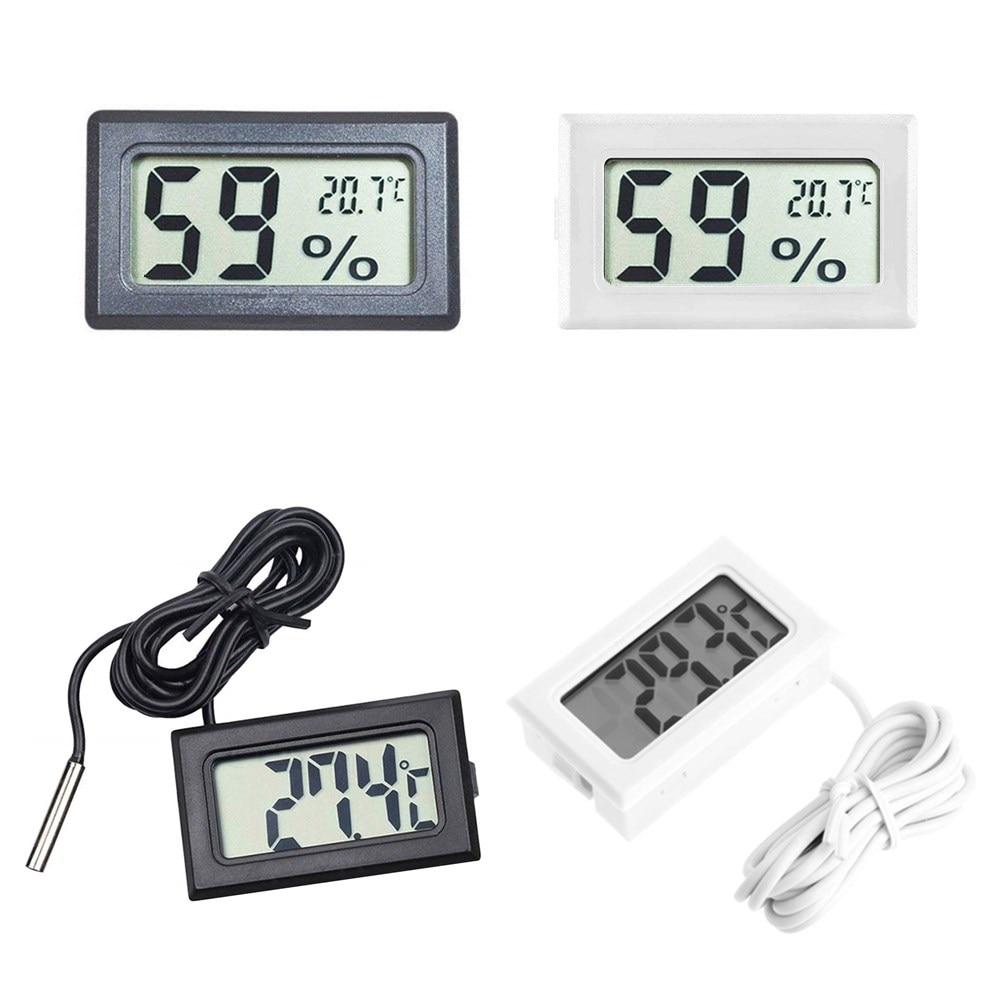 Удобный комнатный мини-датчик температуры с цифровым ЖК-дисплеем, измеритель влажности, термометр, гигрометр