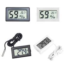 Mini digital lcd interno conveniente sensor de temperatura medidor de umidade termômetro higrômetro calibre