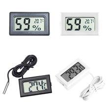 Mini Digital LCD interior Sensor de temperatura conveniente termómetro con medidor de humedad higrómetro medidor