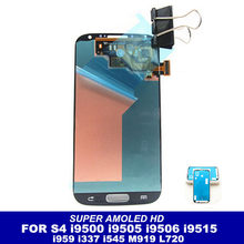Hohe Qualität Super AMOLED LCD Für Samsung Galaxy SIV S4 i9500 i9502 i9505 i9506 i9515 i959 i337 i545 Telefon Display touchscreen(China)