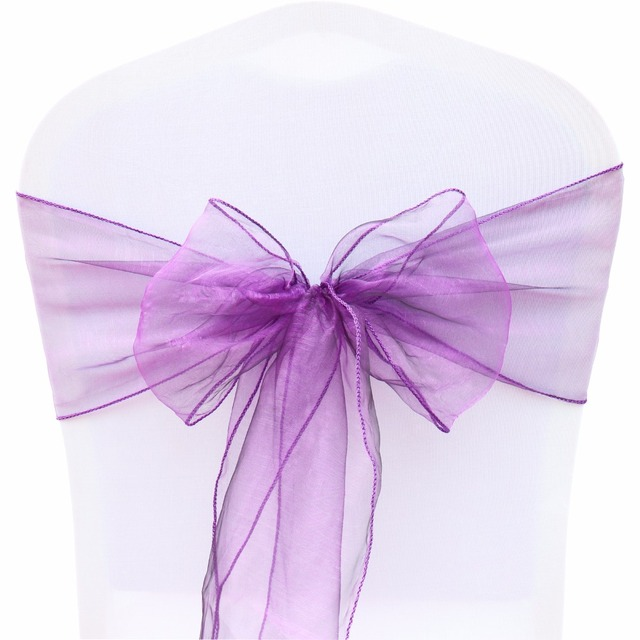 chair cover bows. 100Pcs Organza Chair Sashes FR Stock 18cmx275cm Chiffon Fabric Bows Chairs Cover DIY Wedding Party Event I