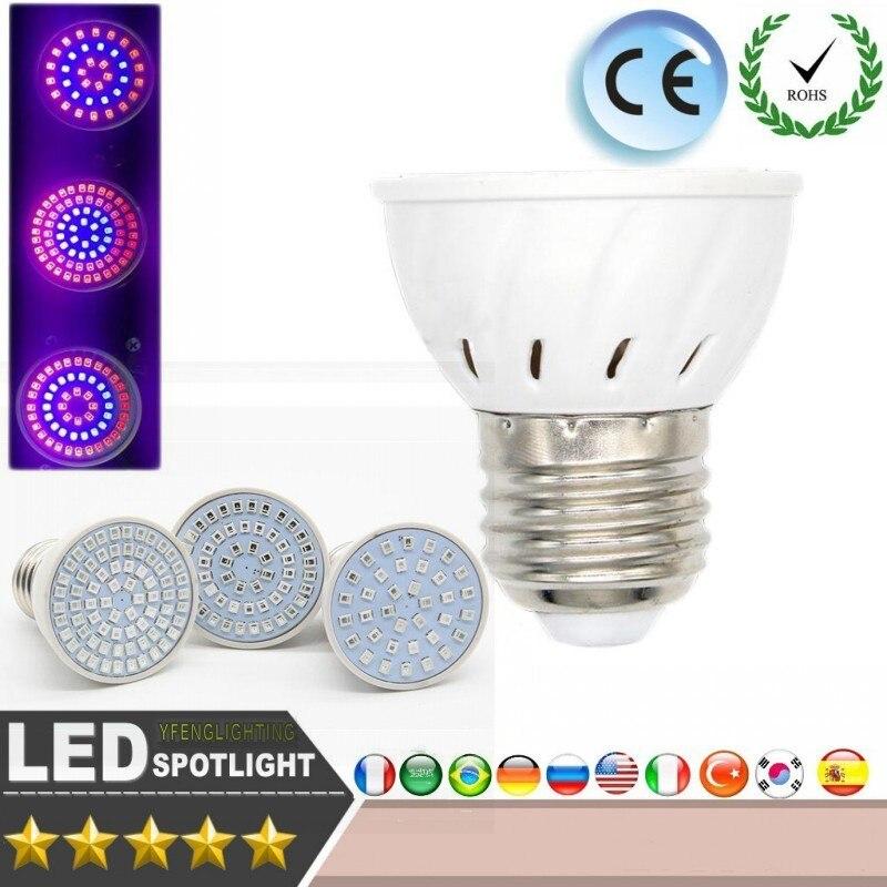 Led Grow Lamp E27 9w 15w 18w Ac220 240v Red Blue Grow