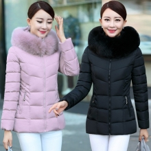 Women's large code was thin mother cotton-padded jacket short coat women's cotton jacket jacket