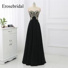 2019 Black Evening Gowns For Women Party Long Dress Erosebridal Robe De Soiree A Line Elegant Sleeveless Dresses ZLR028