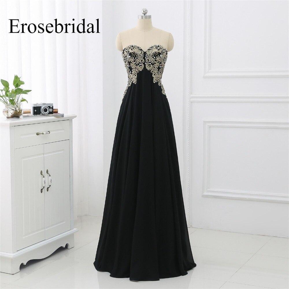 2019 noir robes De soirée pour les femmes fête longue Robe érosemariée Robe De soirée une ligne élégante sans manches robes De soirée ZLR028