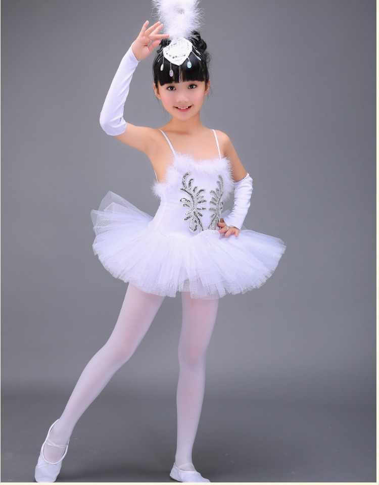 9ab658bcf Vestido de Ballet para niñas, vestido de bailarina, vestido de ...