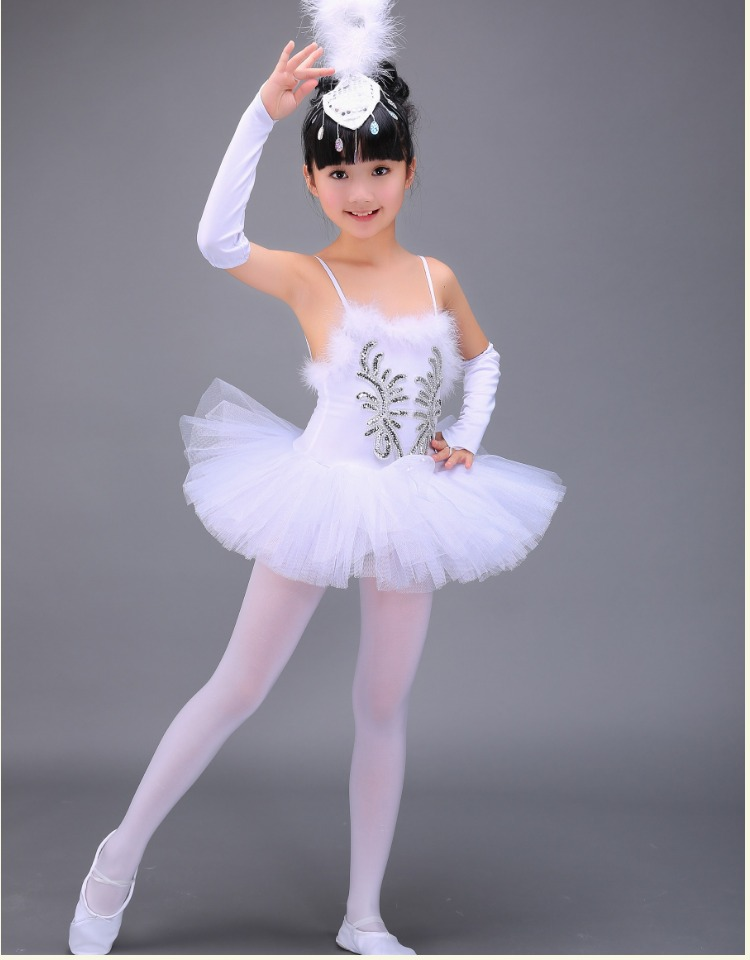 Professional Child Dance Costume White Swan Lake Ballet Dance Dress For Kids Dancing Costumes Girls Ballerina Tutu Dress