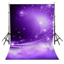 150x220cm Night View Background Shining Stars Backdrop Ultra Violet Color Sky
