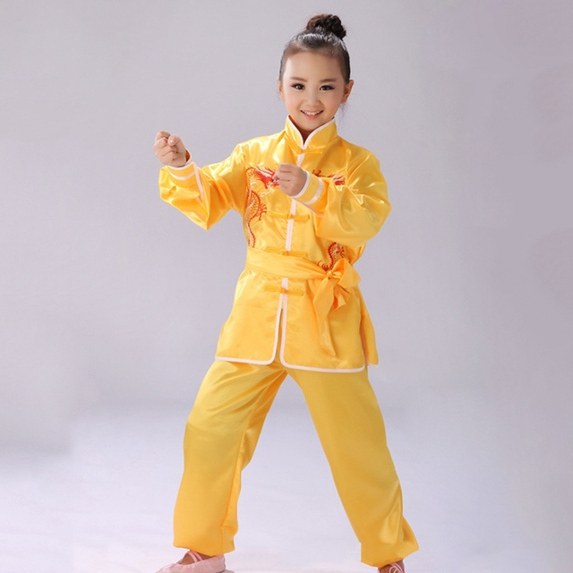 Best Selling Children Martial Arts Uniform Tai Chi Wushu Clothes Outfits Kung Fu Performance Exercise Clothing Tops+Pants