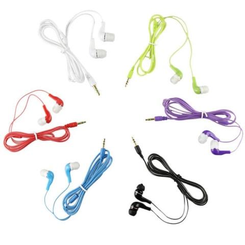 Newest  Fashion 3.5mm Stereo In Ear Earphone Earbud Black Headset For HTC iPad iPhone Samsung Sports Earphones Multan