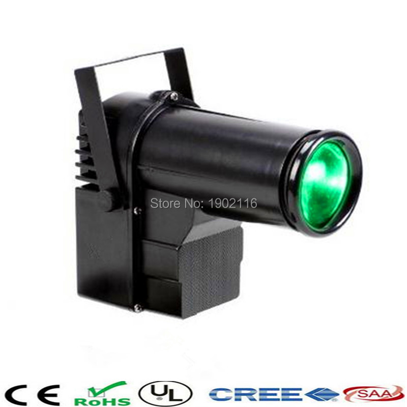 ФОТО Free shipping mini LED stage light 10W LED pin spot/RGBW 4in1 dmx512 led pinspot light dj party disco lighting
