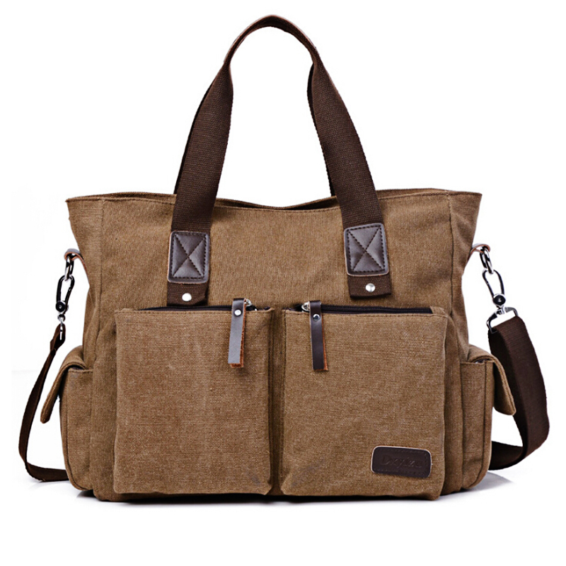 Travel Bag Women Canvas Large Capacity High Fashion Solid Handbags X172 48%OFF