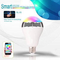 Bluetooth Speaker LED Light Bulb Colorful Changing Lights Works For IPhone Android Smartphone Controlled CLH 8