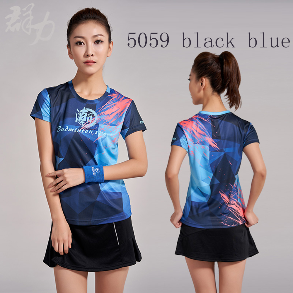 Kunli 2018 new men 39 s women 39 s tennis shirt outdoor sports clothing running badminton clothing basketball short T shirt shirt in Badminton Shirts from Sports amp Entertainment