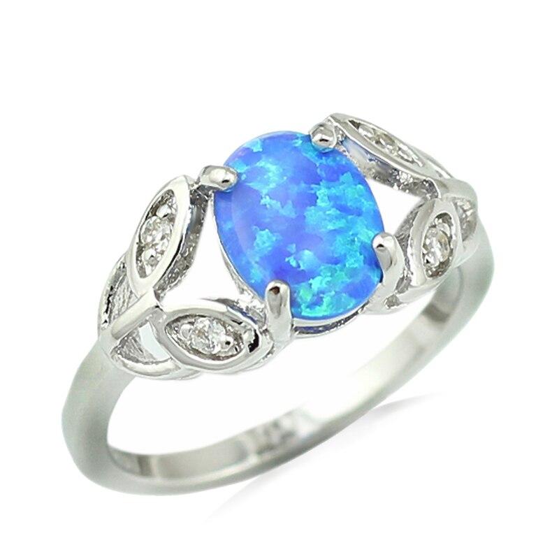 Beliebte Marke Haimis Heißer Verkauf Blau Feuer Opal Frauen Mode Schmuck Opal Ring Größe 6 7 8 9 Or821