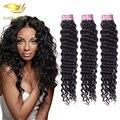 Золото волос продукты перуанский глубокая волна, 6А перуанский глубокая волна девы волос bundle предложения 3 шт./лот перуанских девы человека волос