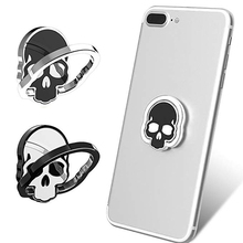 Skull Design Finger Ring Phone Holder Magnetic Car Mount Stand for iphone X 8 7 6 6s Plus XR XS Max Samsung Galaxy Huawei Sony