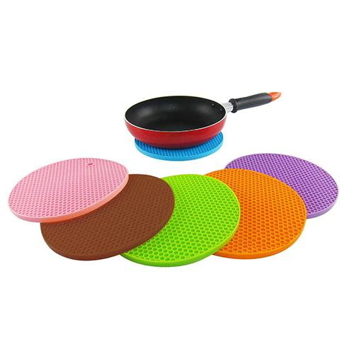 New Candy Honeycomb Silicon Placemat Pot Mat Non-slip Heat Resistant Pad Coaster