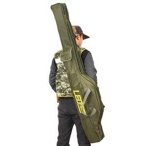 Image 1 - 휴대용 낚시 가방 접는 낚시대 캐리어 캔버스 낚시 극 도구 스토리지 가방 케이스 낚시 장비 태클 가방 Pesca L30