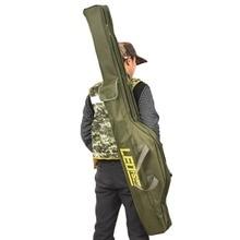 Sac de rangement en toile pour porte canne à pêche Portable pliable, sacoche de rangement pour matériel de pêche et outils