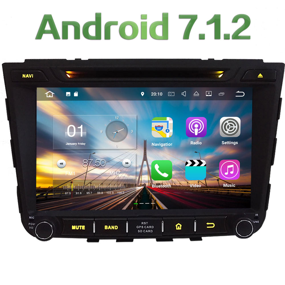8 Android 7 1 2 Quad Core 2GB RAM SWC 4G BT Multimedia Car DVD Player
