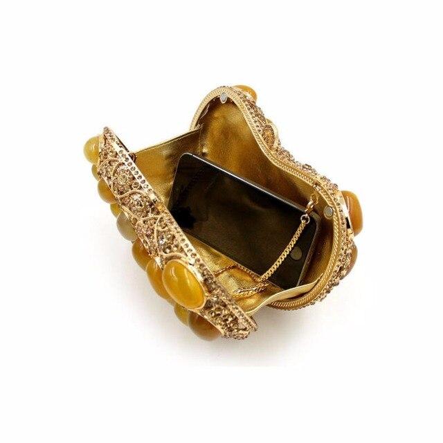 BL034 Luxury diamante evening bags colorful clutch bags women party purse  dinner bags crystal handbags gemstone wedding bags