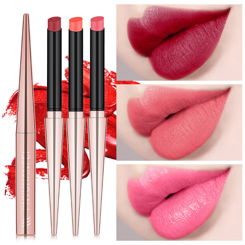 Waterproof Lipstick Matte Pumpkin Color Lipstick Eat Earth Rich Vitamin E Moistu cosmetics batom Wholesale Quick delivery