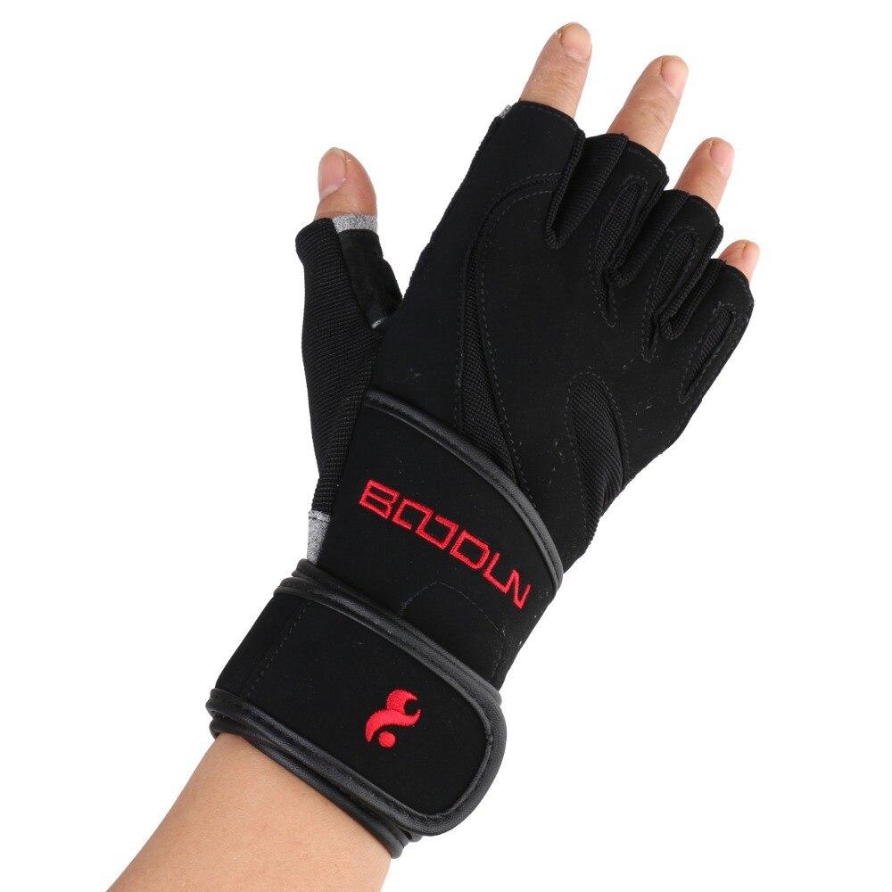 Boodun Gym Gloves Men Women Body Building Half Finger Fitness Gloves An slip Weight Lifting Sports Training Fingerless Gloves