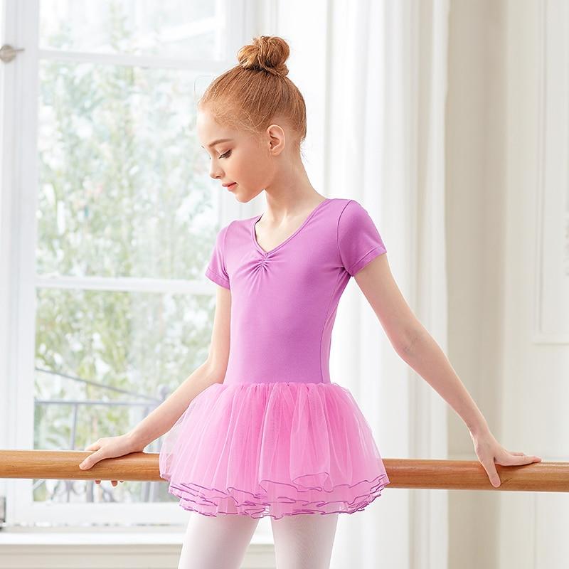 Image 3 - Girls Ballet Leotards Tutu Dress Kids Bubble Skirts Birthday Skirts Soft Leotards Gymnastics Training  Daily WearBallet   -