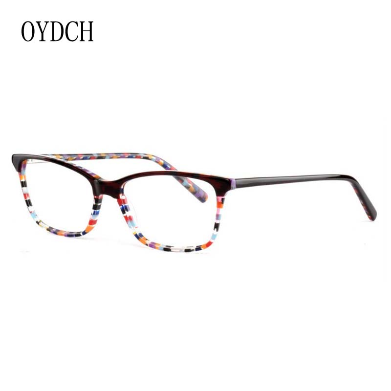 b8b49434a1 high end business ladies optical glasses frame fashion trend mosaic pattern  ladies  glasses high end acetate plate glasses frame-in Eyewear Frames from  ...