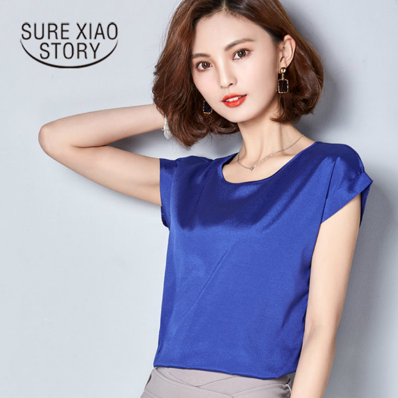 women chiffon blouse shirt female big yards female shirts short sleeves 2017 fashion edition of the new summer wear loose 78C 30